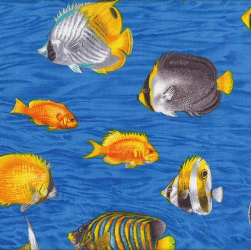 Fish Sea Ocean Life Fabric category