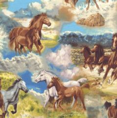 Horses & Equestrian Fabric category