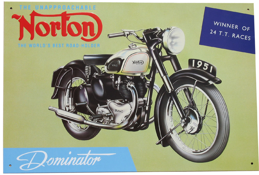 Classic Motorbike Tin Signs category