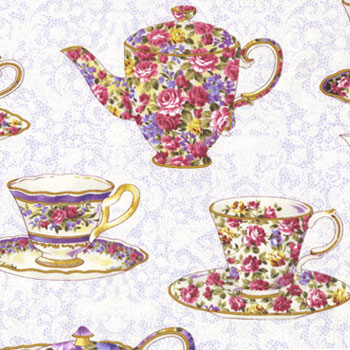 Teacups & Teapots Fabric category