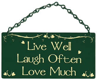 live well laugh often love much home garden sign. Black Bedroom Furniture Sets. Home Design Ideas