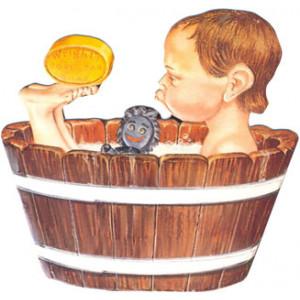 Wrights Soap Boy in Tub Postcard