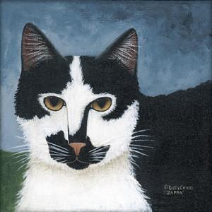 Black & White Cat 8 x 8 Print