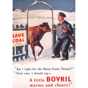 Bovril Bull & Man Nostalgic Postcard