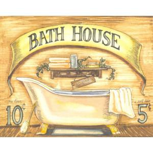 Bath House 8 x 10 Country Print