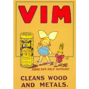 Vim Cleaner Postcard