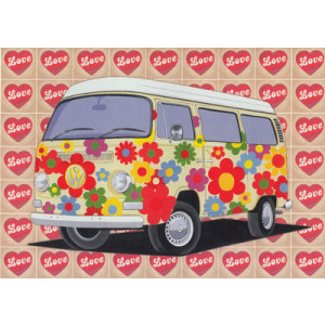 Kombi Love Camper Card by Martin Wiscombe