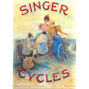Singer Cycles Postcard