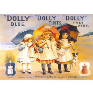 Dolly Fast Dyes Postcard