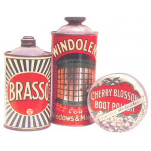 Brasso Winolem Cherry Blossom Household Cleaners Postcard