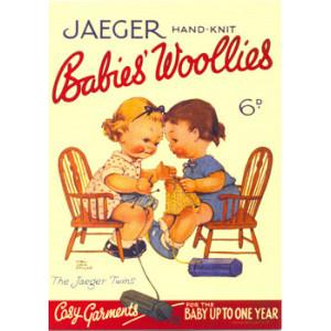 Jaeger Hand Knit Babies Woollies Postcard