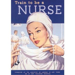 Train To Be A Nurse Postcard