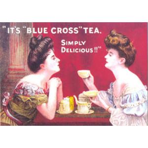 Blue Cross Tea Nostalgic Postcard
