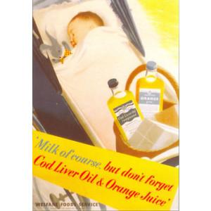 Cod Liver Oil Baby Nostalgic Postcard