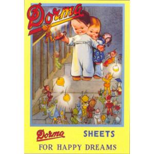 Dorma Sheets Mabel Lucie Attwell Nostalgic Postcard