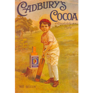 Cadburys Cocoa Cricket Boy Nostalgic Postcard