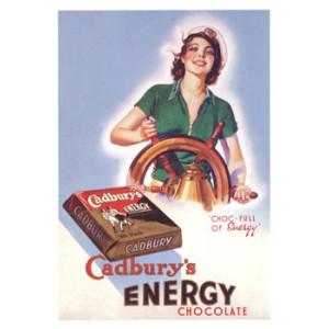 Cadburys Energy Chocolate Ship Nostalgic Postcard