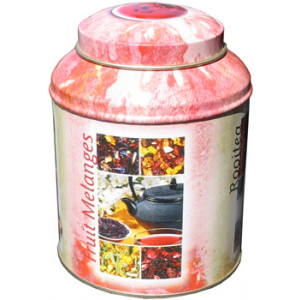 Fruit Melanges Tea Tin WIth Dome Lid 125 Grams