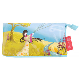 PVC Cosmetic Makeup Accessories Travel Case Asian Girl