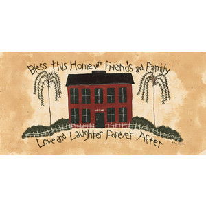 Bless This Home With Family & Friends 10 x 20 Print