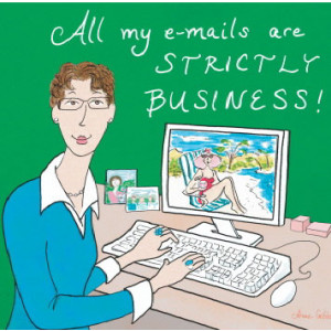 Emails Strictly Business Eyeglasses Cleaning Cloth