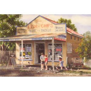 Gordon Hanley Fish & Chips Shop Postcard