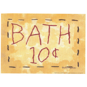 Bath 10c 5 x 7 Print