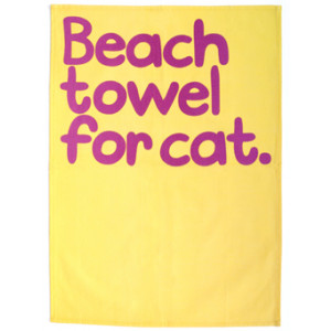 Beach Towel For Cat Waldo Pancake Tea Towel