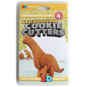 Brachiosaurus Dinosaur 3D Food Grade Cookie Cutters