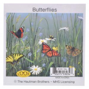 Garden Butterflies Microfiber Glasses Cleaning Cloth
