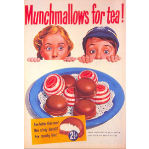 Munchmallows Biscuits Postcard