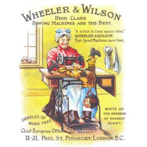 Wheeler & Wilson Sewing Machines Nostalgic Postcard