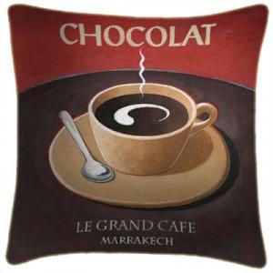 Chocolat Art Print Retro Cushion Martin Wiscombe