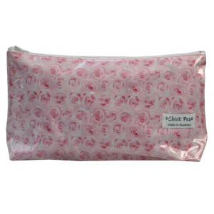 Long Box Make Up Toiletry Purse Pretty Pink Roses