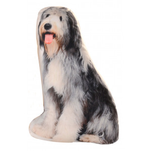 Old English Sheepdog Shaped Scatter Throw Cushion Pillow