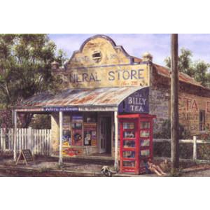 Gordon Hanley General Store & Phone Box Postcard