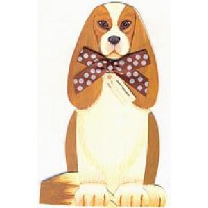 Dog 3 D Birthday Card