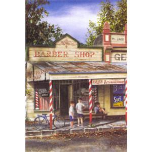 Gordon Hanley Barber Shop Postcard