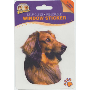 Dachshund Dog Self Cling Re-usable Window Sticker