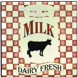 Milk Dairy Fresh Cow Country Tin Sign