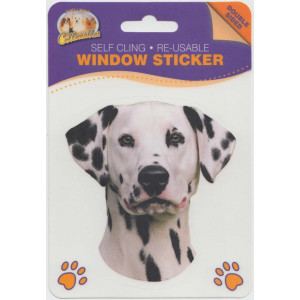 Dalmatian Dog Self Cling Re-usable Window Sticker