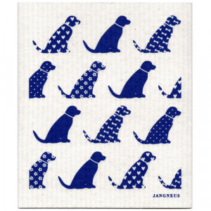Dogs Blue Design Eco Friendly Kitchen Dishcloth