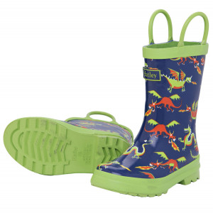 Flying Dragons Design Pull On Kids Rainboots Gumboots By Hatley