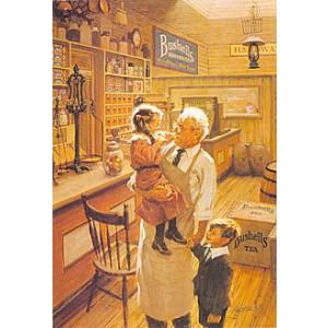 Bushells Inside Store Nostalgic Postcard