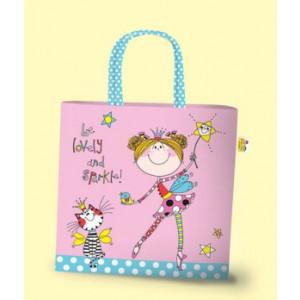 Fairy Girls Pink PVC Tote Bag