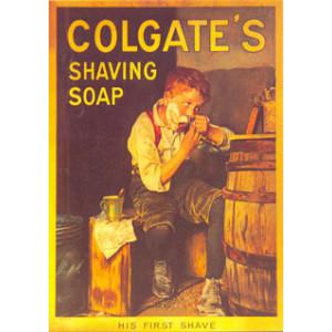 Colgates Shaving Soap Nostalgic Postcard