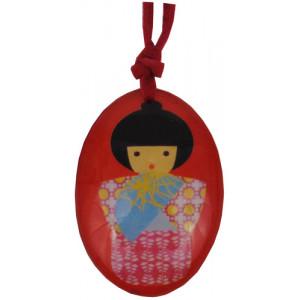 Japanese Kokeshi Doll Resin Pendant