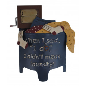 Country Style Laundry Washing Machine Tin Wall Plaque