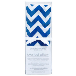 Navy Blue Chevron Design Eye Rest Pillow With Lavender