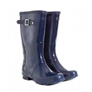 Navy Blue Kids Childrens Skeanie Gumboots Wellies Rainboots